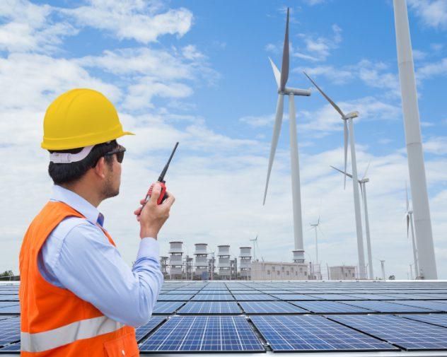 Civil engineering job working with wind turbines